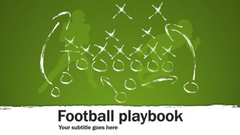 قالب پاورپوینت سه بعدی متحرک football playbook