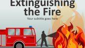 قالب پاورپوینت سه بعدی متحرک extinguishing the fire