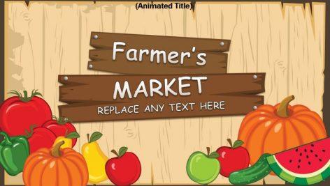 قالب پاورپوینت سه بعدی متحرک farmers market