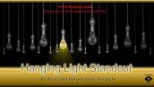 قالب پاورپوینت سه بعدی و متحرک hanging light standout