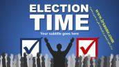قالب پاورپوینت سه بعدی متحرک election time