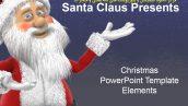 قالب پاورپوینت سه بعدی متحرک christmas elements