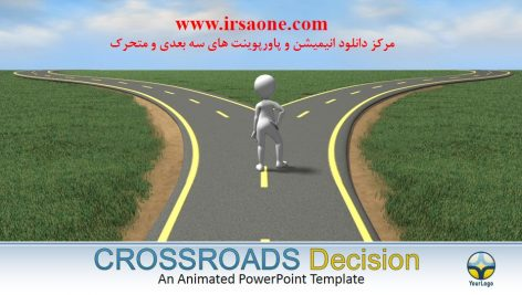 قالب پاورپوینت سه بعدی متحرک crossroads decision