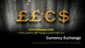قالب پاورپوینت سه بعدی متحرک currency exchange