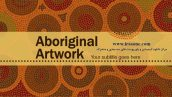 قالب پاورپوینت سه بعدی متحرک aboriginal artwork