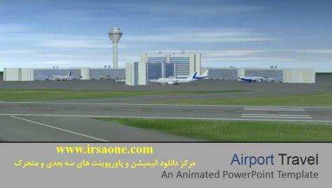 قالب پاورپوینت سه بعدی متحرک airport travel