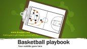 قالب پاورپوینت سه بعدی متحرک basketball playbook