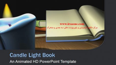 قالب پاورپوینت سه بعدی متحرک book by candle light