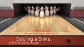 قالب پاورپوینت سه بعدی متحرک bowling a strike
