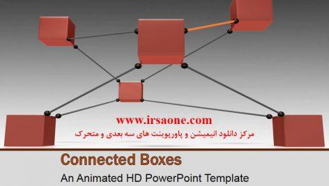قالب پاورپوینت سه بعدی متحرک boxes connected