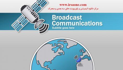 قالب پاورپوینت سه بعدی متحرک broadcast communications