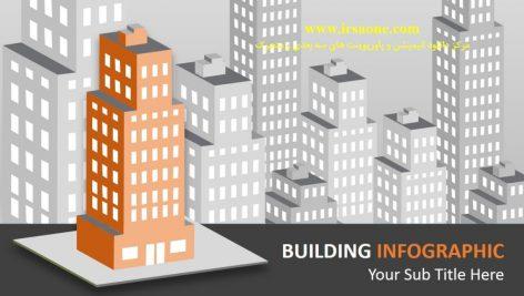 قالب پاورپوینت سه بعدی متحرک building info graphic