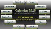 قالب پاورپوینت سه بعدی متحرک calendar interactive 2019