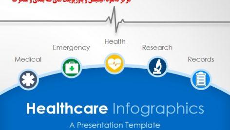 قالب پاورپوینت سه بعدی متحرک healthcare infographic