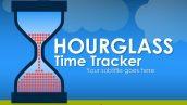 قالب پاورپوینت سه بعدی متحرک hourglass time tracker
