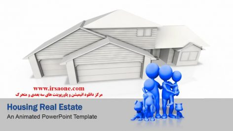 قالب پاورپوینت سه بعدی متحرک housing real estate