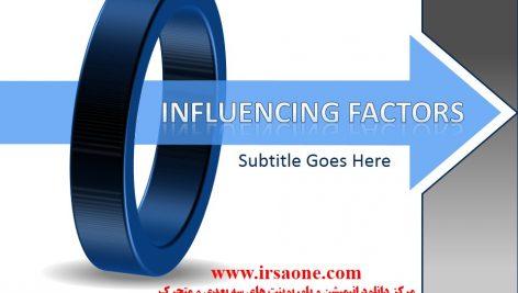 قالب پاورپوینت سه بعدی متحرک influencing factors