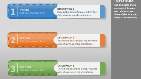 قالب پاورپوینت سه بعدی متحرک info tabs