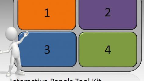 قالب پاورپوینت سه بعدی متحرک interactive panels