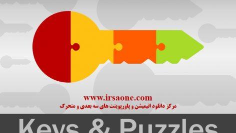 قالب پاورپوینت سه بعدی متحرک keys and puzzles