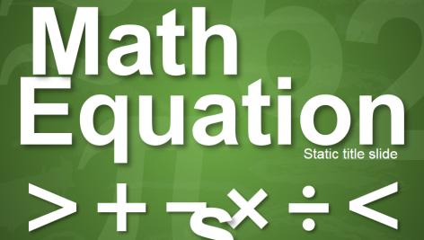 قالب پاورپوینت سه بعدی متحرک math equations