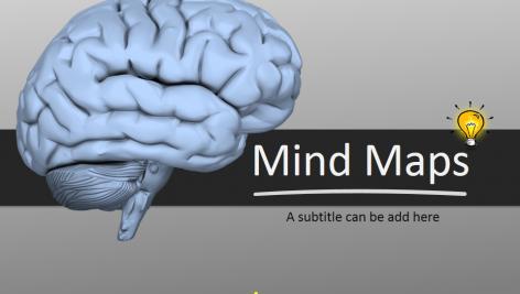 قالب پاورپوینت سه بعدی متحرک mind map