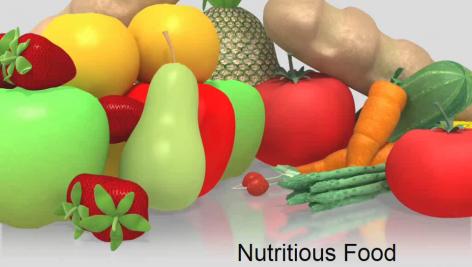قالب پاورپوینت سه بعدی متحرک nutritious food