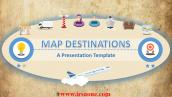 قالب پاورپوینت سه بعدی متحرک map destinations