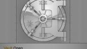 قالب پاورپوینت سه بعدی متحرک open vault